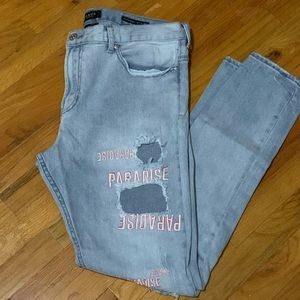 PacSun Men's Stacked Skinny  Paradise Jeans 36x32